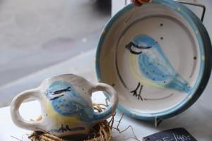 Kinderteller&Tasse blaumeise